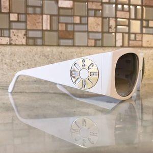 Auth. Moschino White 52mm Gradient Sunglasses